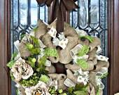 Natural Burlap Lavish Wreath