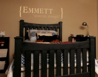 Personalized Baby Name Wall Decal - custom colored wall decal, nursery decor, decorative wall decal, personalized baby gift