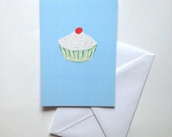 Cupcake birthday card greeting card