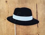 Felt Fedora Hat Photo-Booth Prop | Film Noir Prop | Murder Mystery Prop | Gangster Prop | Gangster Hat Prop