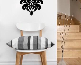 Baroque, damask filigree vinyl decal - classy wall Art, sticker art, room, home decor