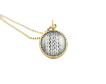 Gift for Her, Small Tire Track Necklace, Layering Necklaces, Photography Jewelry, Unique Gifts, Brass Pendant on a Ball Chain