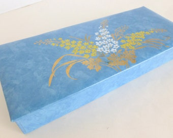 Floral Glove Box Something Blue Wedding Gift