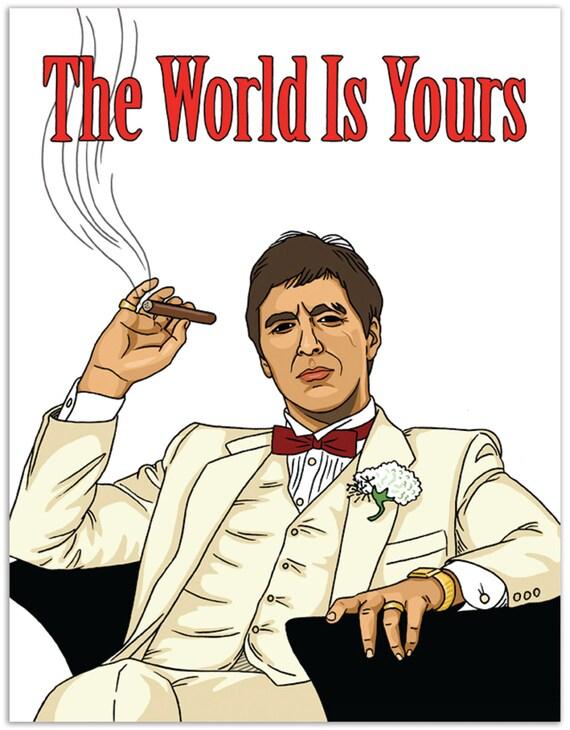 Scarface carte de voeux de joyeux anniversaire Tony Montana Al Pacino Impression