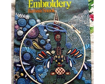The Creative Art of Embroidery by Barbara Snook Vintage 1970s Mid Century Hardcover Instructional Needlework Book