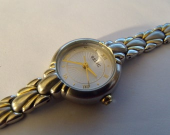 Ladies Two Tone Watch Long Band