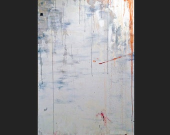 Cloverfield, Giant White Original Mixed Media Abstract Modern Painting, NYC Artist