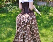 Cherry Blossom Embroidered Ball Skirt with Removable Bustle - One Size Fits Most - Ready to ship