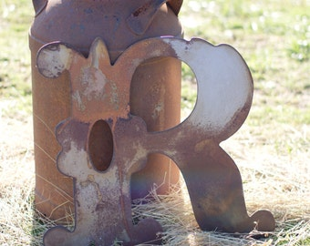 """SALE ** Rustic Western Style Letter """"R"""""""