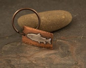Trout Keychain, Fly fishing Gift, Dad Gift