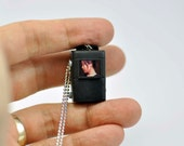 Personalized USB Rolleiflex Camera miniature necklace