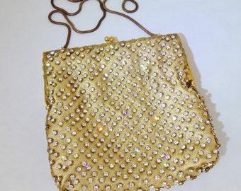 Gorgeous Vintage Designer WALBORG Hong Kong Brilliant Rhinestone Handbag Purse Evening Bag