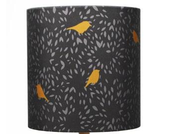 Birdy Lampshade - handmade silk shade