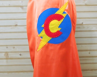 Personalized Made To Order Superhero Cape w/ Satin Lining