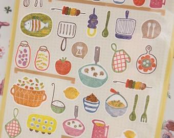 Kitchen Deco Sticker (1 Sheet)