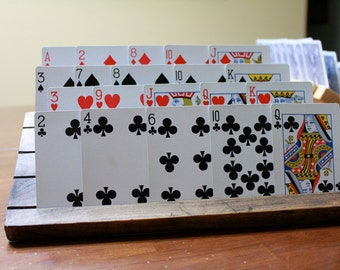 4 Row Playing Card holder