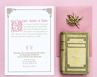 Once Upon a Time Fairy Tale Wedding Invitation Printable