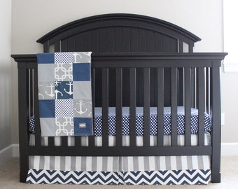 yellow and blue crib bedding grey nautical bedding set baby