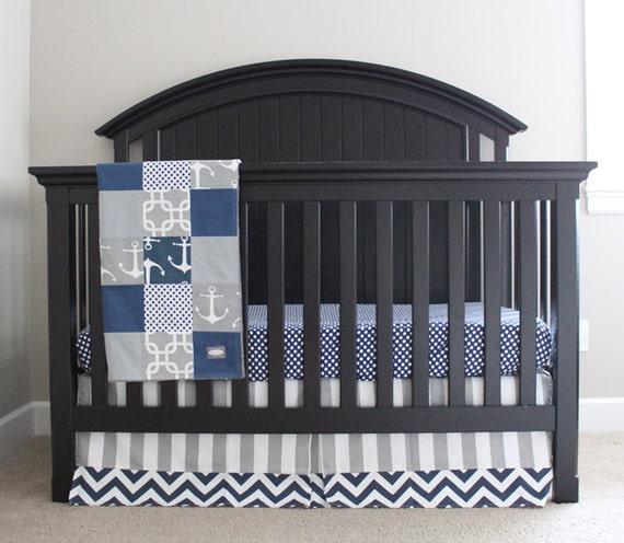 Nautical Crib Bedding, Custom Crib Bedding, Baby Bedding, Crib Set ...