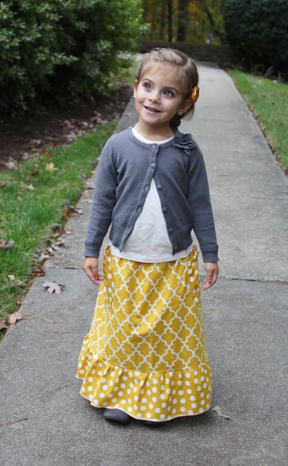 items similar to ruffle maxi skirt toddler any size