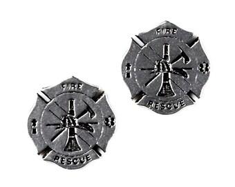 Fireman Cufflinks - Gifts for Men - Anniversary Gift - Handmade - Gift Box Included