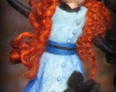 Kara - felted witch, neddle felted and wet felted