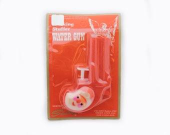 Vintage 1960's Santa Claus Water Gun - Plastic Novelty Derringer Style Squirt Gun - Stocking Stuffer Toy