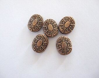 Copper Beads, Copper Spacers, Copper Findings, Copper Oval Beads, Copper oval spacers, Copper Jewelry Findings, Copper Componants
