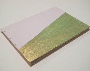 Art Deco Blush and Metallic Gold Guest Book: Gold Leaf Wedding Guestbook
