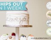 I Love You Cake Topper / Wire Cake Topper / Cake Wrap / Personalized Cake Topper / Mr & Mrs / Unique Cake Decor / I love you cake wrap