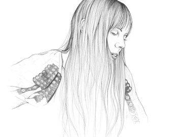 """Joni Mitchell FINE ART Print, 11"""" x 14"""""""