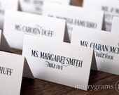 Fancy Wedding Place Cards - Wedding Escort Cards - Affordable, Simple, Elegant, Deco - Matching Signs & Custom Colors Available - SS06