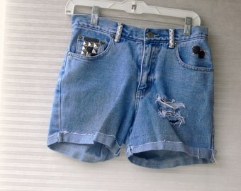 blue jean shorts size 4