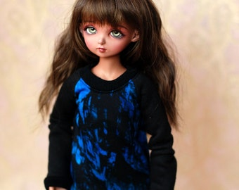 MSD Clothes Blue And Black Sweater For BJD