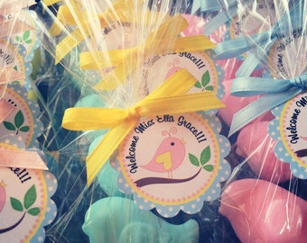 10 BIRD SOAPS {Favors} - Baby Shower Soap Favors, Bridal Shower, Wedding, Birdie, Lovebird, Tweet, Birthday Custom, 1st Birthday, Birdie