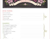 Wedding Planner Printable -- Checklist PDF 17 Pages Total