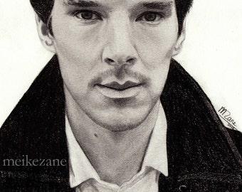 Benedict Cumberbatch - original pencil drawing - size A5
