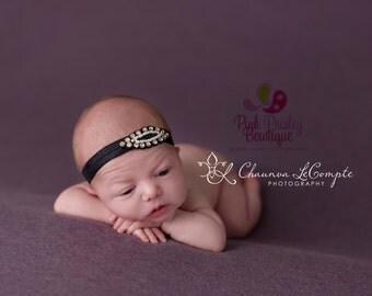 Baby Headbands - You pick 1 Rhinestone Headband - Infant Baby Headband - Baby Girl Headbands - Baby Hair Accessories - Baby Hairbows - Bows