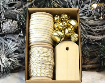Ivory and Gold Gift Wrap Kit (GWK21)