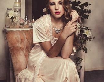 Vintage inspired bridal crystal embellished boho headpiece