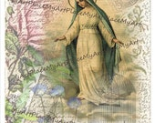 Catholic Art, Virgin Mary, Digital Virgin Mary, Christian Art, Spiritual,  Religious Icon, Spiritual Collage