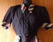 vintage 1930s silk rayon skirt suit small size