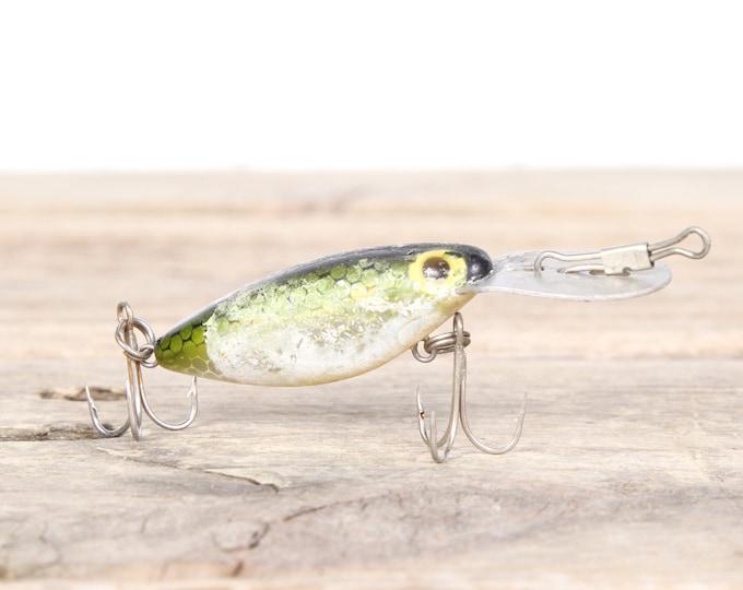 Fishing Lure / Green Fishing Lure / Fishing Decor / Vintage Fishing Lure / Plastic Lure / Old Fishing Lure / Dad Fishing Lure / Mens Gift