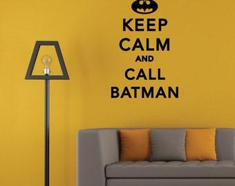 Keep Calm and CALL Bat Wall Decal Sticker