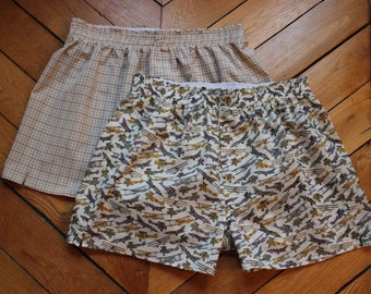 Mens Boxer Shorts Pattern and Tutorial PDF Download