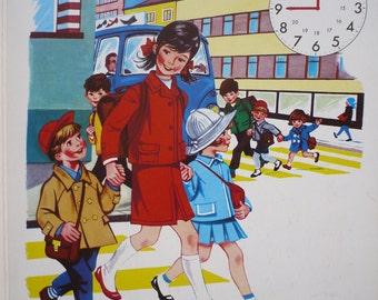 SALE - REDUCED PRICE - Circa 1950s Vintage Children's Board Book - Tick-Tock All Round The Clock