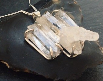 Claw Quartz Necklace - Sterling Silver