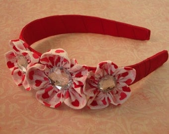 Heart flower Headband
