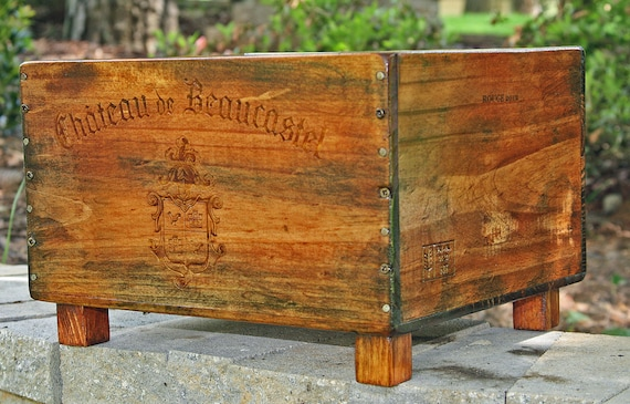 Custom order only kate 39 s french themed by katesdesignercrates for Wooden wine box garden