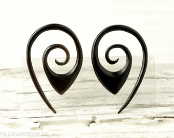 """Oval Gauge Earrings Drop Earrings Horn Expanders Gauges  16g 14g 12g 10g 8g 6g 4g 2g 0g 00g 1/2""""- GA014 H G1"""